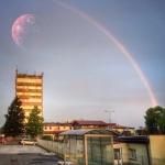 Nieznany obiekt nad wieżowcem Polsatu
