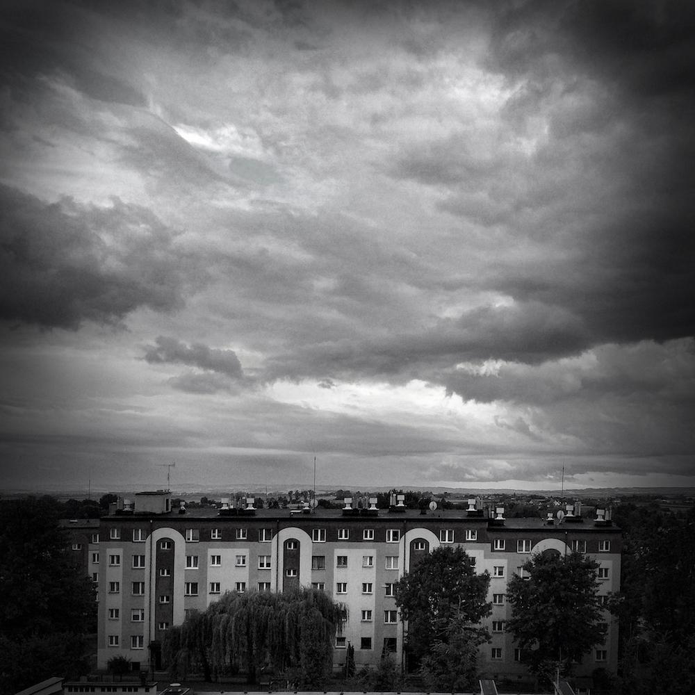 Pochmurny dzień i widok z okna, Przeworsk