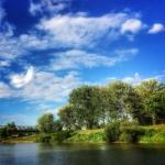 Jarosław, letni widoczek, rzeka San