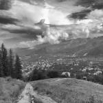 Zakopane – widok na Tatry B&W