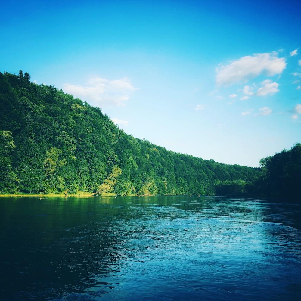 Rzeka San w okolicach Leska