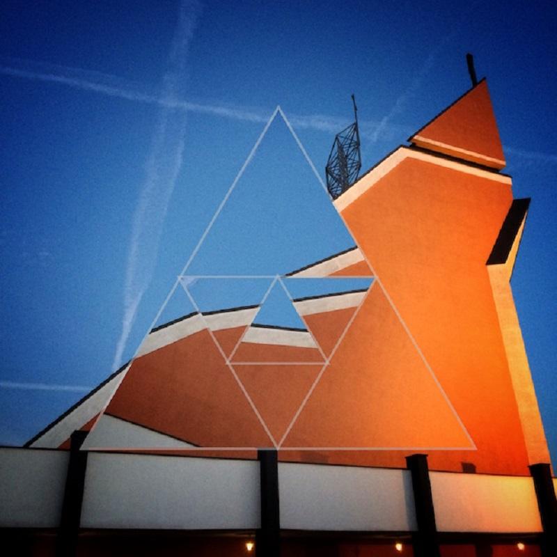 fotografia abstrakcja kościół